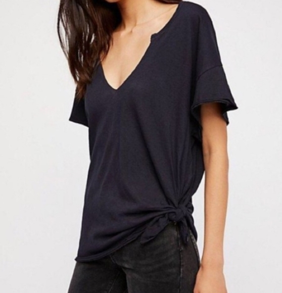 Free People Tops - Free People Side Tie Tee Sz XS